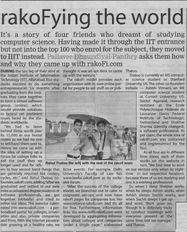 ToI Press Release, April 2007